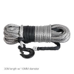 Giantz 10mm x 30m Synthetic Winch Cable