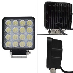 8X 80W LED FLOOD WORK LIGHT BAR LAMP PHILIPS LUMILEDS OFFROAD TRACTOR TRUCK 4WD