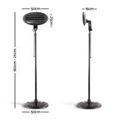 2000w Electric Portable Patio Strip Heater