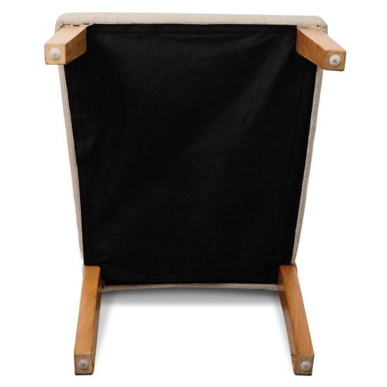Artiss Set of 2 Fabric Dining Chair - Beige
