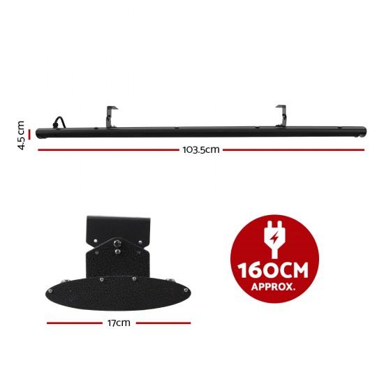 1800W Electric Infrared Radiant Strip Heater Panel Heat Bar Black