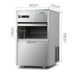 Commercial Ice Cube Maker Stainless Steel 50KG/Day