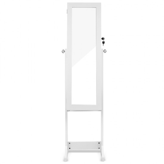 110cm Mirror with Cabinet - White