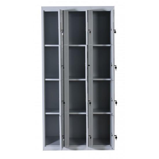 12 Door Locker - Office/Gym - Light Grey