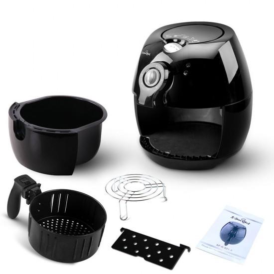 4L Air Fryer Oil Free Deep Cooker - Black