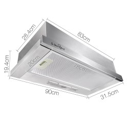 900mm Stainless Steel Kitchen Range Hood