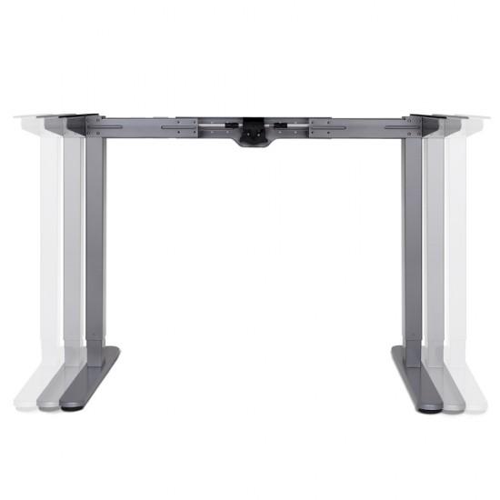 100cm Motorised Electrical Adjustable Frame Standing Desk - White Grey
