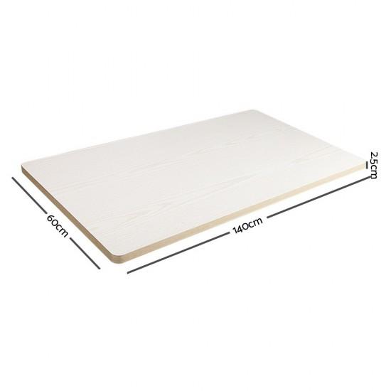 140cm Motorised Electrical Adjustable Frame Standing Desk - White Grey