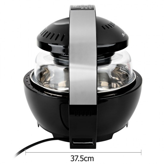 13L Air Fryer Oven Cooker - Black