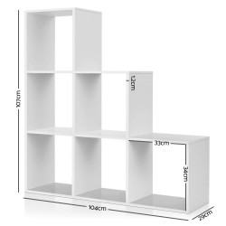 Artiss 6 Cube Display Shelf Bookcase Unit White