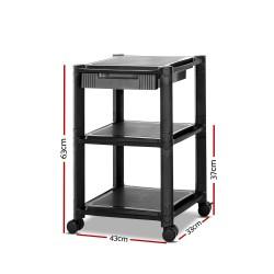 Artiss Mobile Printer Stand Shelf Rolling Cart Adjustable