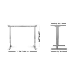 Artiss Height Adjustable Standing Desk Sit Stand Motorised Electric Roskos III Grey White Oak