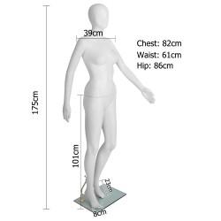 175cm Tall Full Body Female Mannequin - White