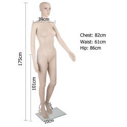 175cm Tall Full Body Female Mannequin - Skin Coloured