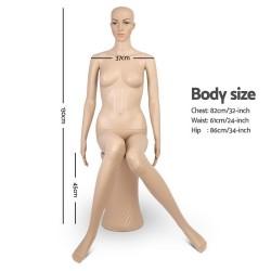 130cm Tall Full Body Female Mannequin Sitting