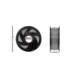 3D Printer Filament PLA 1.75mm 1kg per Roll Grey