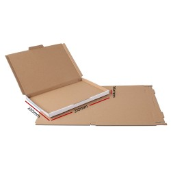 100x Mailing Box Super Flat Rigid Envelope Mailer Diecut A4 310x220x16mm
