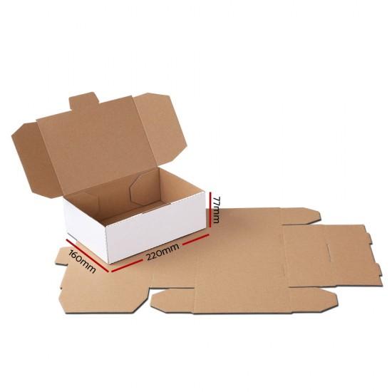 100x Mailing Box Mailer Diecut Cardboard Shipping Carton A5 220x160x77mm