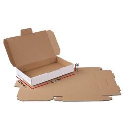 200x Mailing Box Mailer Diecut Cardboard Shipping Carton 220x145x35mm
