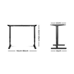 Artiss 160cm Motorised Electric Height Adjustable Standing Desk Table Dual Motor