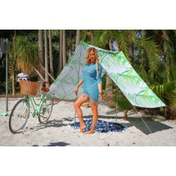 Good Vibes Summer Beach Tent Palm 148x370cm