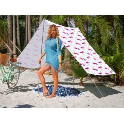 Good Vibes Summer Beach Tent Flamingo 148x370cm