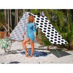 Good Vibes Summer Beach Tent Spot Black 148x370cm