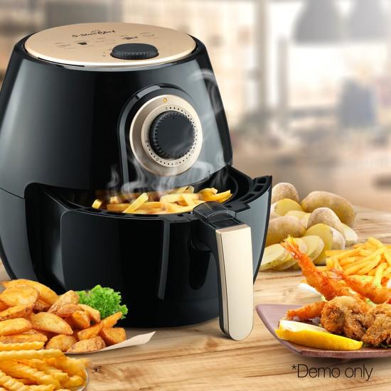 4L Oil Free Air Fryer - Black