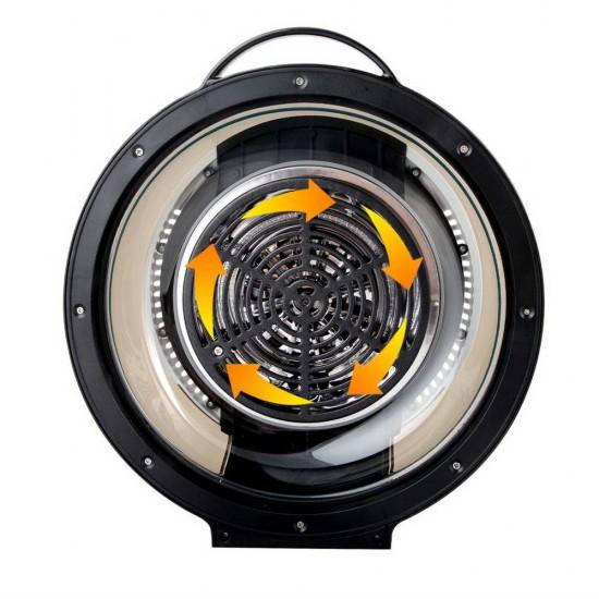 10L 8 Function Convection Oven Cooker Air Fryer- Black