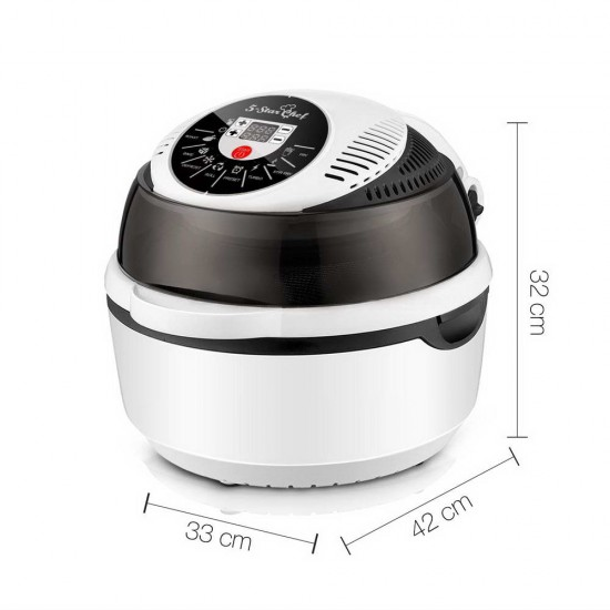 10L 8 Function Convection Oven Cooker Air Fryer- White