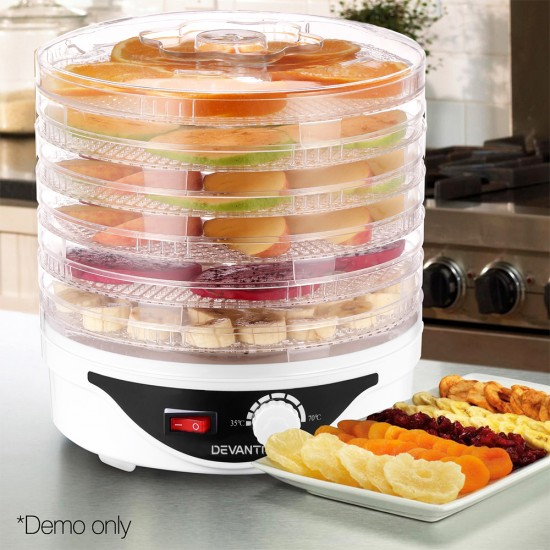 Food Dehydrator with 7 Trays - White