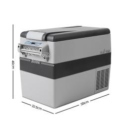 Glacio 45L Portable Fridge & Freezer Cooler Grey