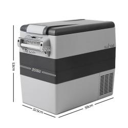 Glacio 55L Portable Cooler Fridge - Grey