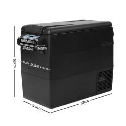 Glacio 55L Portable Fridge & Freezer Cooler Black