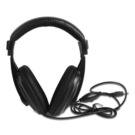LCD Screen Metal Detector with Headphones - Black