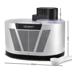 Self Cooling Ice Cream Maker - Silver