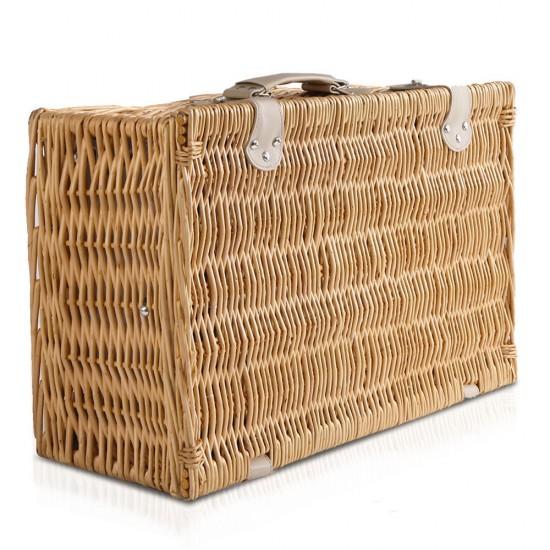 Alfresco 4 Person Cooler Wicker Picnic Basket - Brown