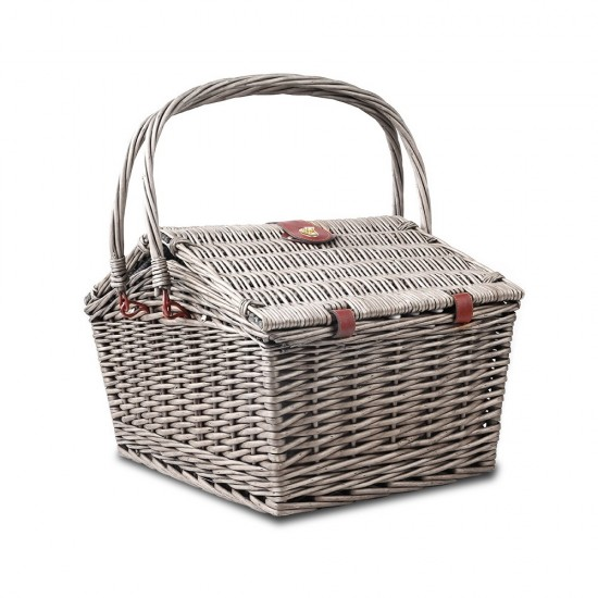 Alfresco 4 Person Picnic Basket - Blue and White