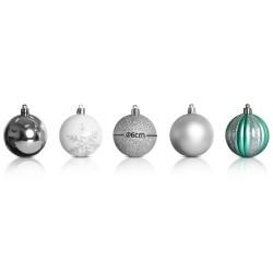 Jingle Jollys 50pcs Christmas Baubles - Silver