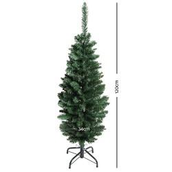Jingle Jollys 4FT Slim Christmas Tree - Green