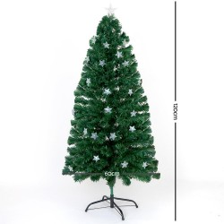 Jingle Jollys 1.2M 4FT LED Christmas Tree Multi Colour