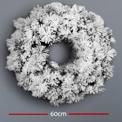 Jingle Jollys 60cm Christmas Snow Wreath