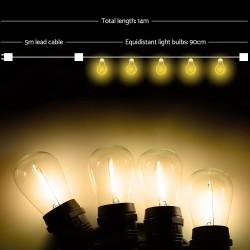 Jingle Jollys 10 Bulb Festoon String Lights