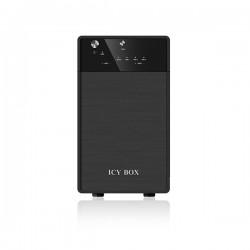"ICY BOX External 2x JBOD system with USB 3.0 for 3.5"" SATA I / II / III hard disks (IB-3620U3)"