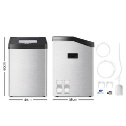 Commercial 8KG Ice Maker - Silver