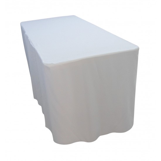 6 Foot White Table Cloth Trestle Cover