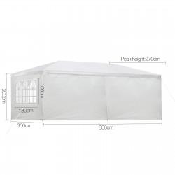 Instahut Gazebo 3m x 6m - White
