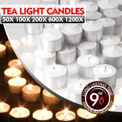 200pcs Tea Light Candles Bulk 9 Hour