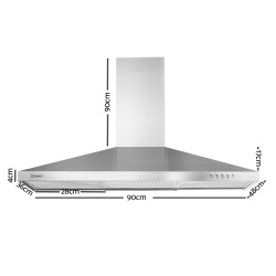 900mm Rangehood Stainless Steel Range Hood Home Kitchen Canopy
