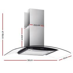 Commercial Rangehood Range Hood Stainless Kitchen Canopy 900mm